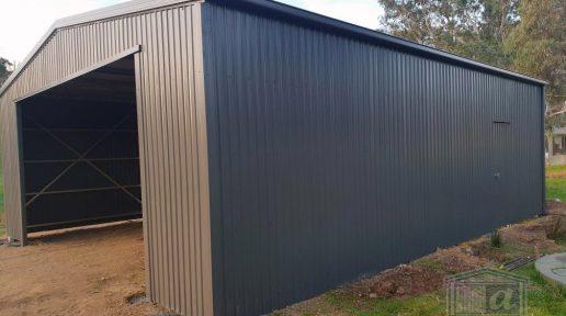 9m x 7.6m x 3m(h) Woodland Grey Shed