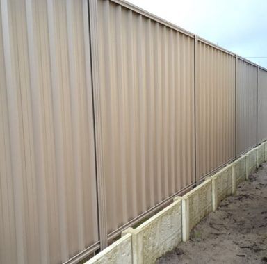 Panel Fencing in Paperbark® with Sleepers