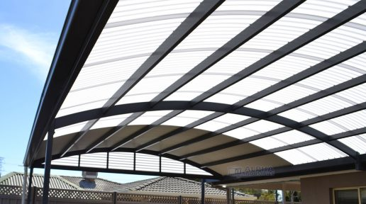Curved Roof Patio with COLORBOND® & Polycarbonate Roofing