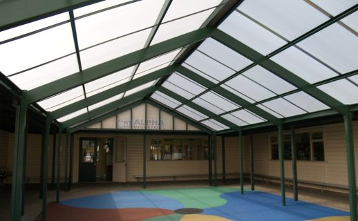 Gable Cover with Polycarbonate Roof