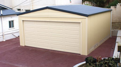 double shed garage panel lift