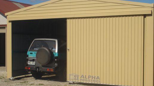 double shed garage sliding door