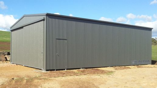 Woodland Grey® Gable Shed with Sliding Doors and PA Door