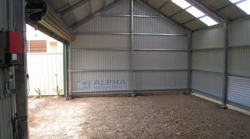 gable shed internal